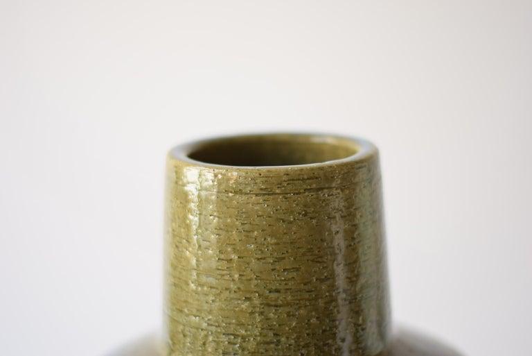 Mid-Century Modern Palshus Denmark Huge Ceramic Vase Green and Blue by Per Linnemann-Schmidt, 1960s For Sale