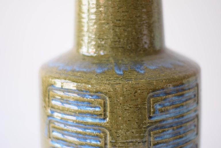 Danish Palshus Denmark Huge Ceramic Vase Green and Blue by Per Linnemann-Schmidt, 1960s For Sale