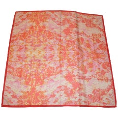 "Huge ""Shades  of Pinks, Corals, Lavender & White Silk Scarf"