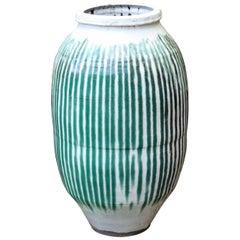 Huge Shigaraki Pottery Storage Jar Wabi Sabi Tea Ceremony Garden Urn Vase