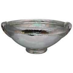 Huge Silver Krater Hand Hammered Florence, Italy, 1930s-1940s
