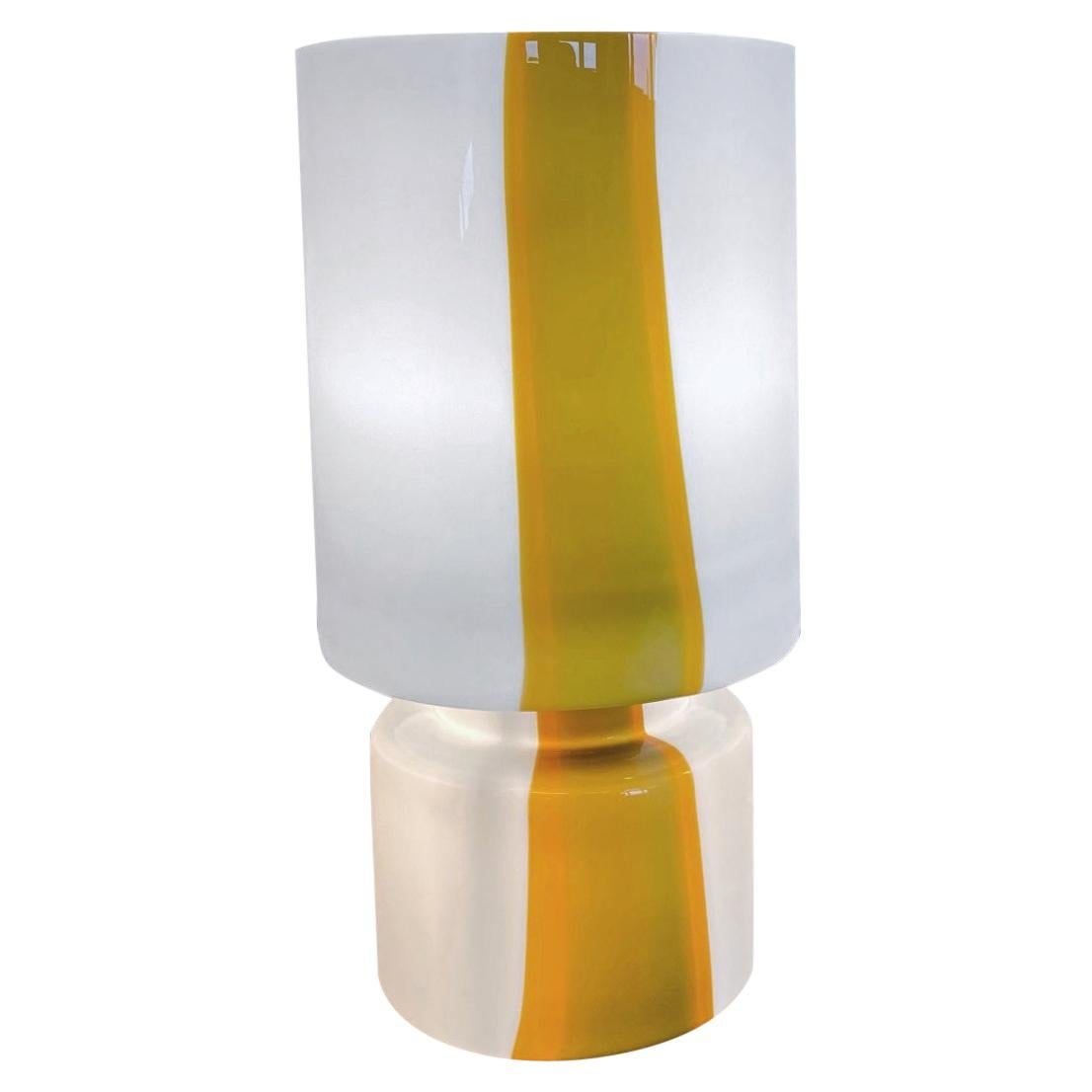 Huge Space Age Missoni Inspired, Murano Blown Glass Table Lamp, 1970s, Italy