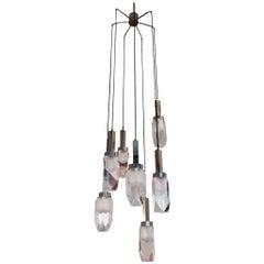 Huge Stilnovo Seven-Light Hanging Chandelier