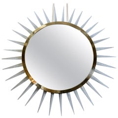Huge Sunburst Mirror Designed by Regis Royant