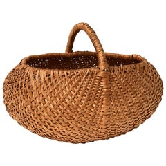 Huge Swedish Picking Basket, Early 20th Century