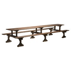 Huge Trestle Table with Benches, France, Circa 1900
