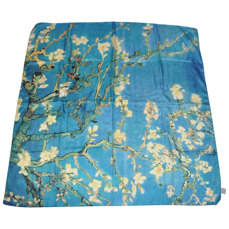 "Huge Vincent Van Gogh ""Turquoise Painting"" Silk Scarf"