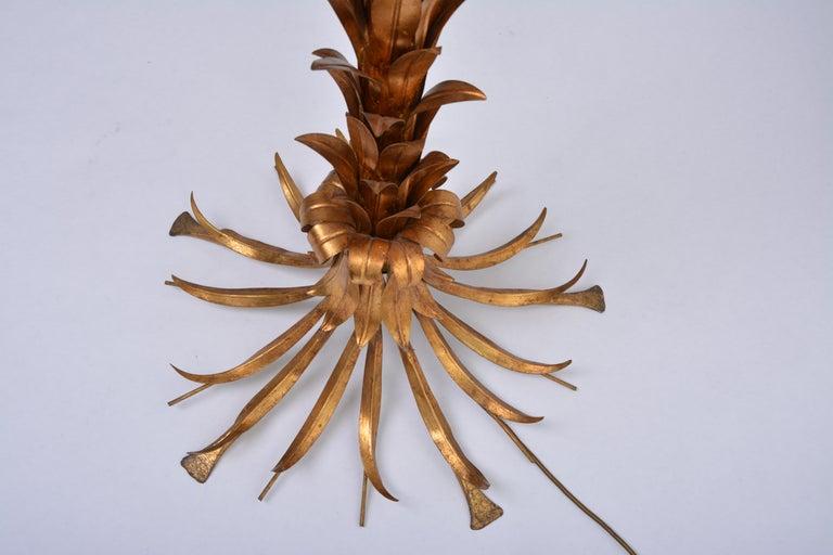 Huge golden Hollywood Regency palm tree floor lamp by Hans Kögl For Sale 1