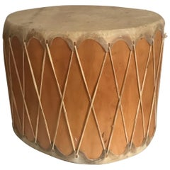 Huge Vintage Pueblo Native American Double-Sided Drum