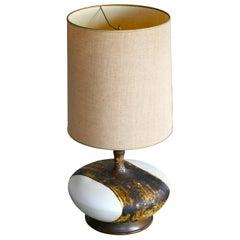 Huge Volcanic Lava Ceramic Lamp, '1960s'