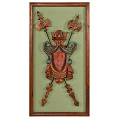 Huge Witco Wall Art, Axe and Shield Gothic Medieval Style