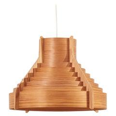 Huge Wooden Pendant Lamp by Hans-Agne Jakobsson for AB Ellysett Markaryd, Sweden