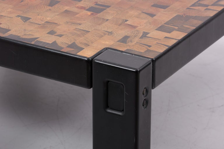 Huge Wooden Scandinavian Coffee Table by Gorm Lindum for Tranekær, Denmark 4