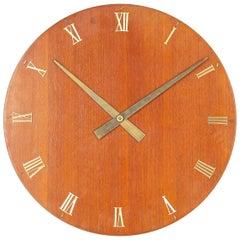 Huge Zenith Teak Midcentury Wall Clock