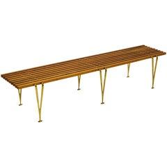 Hugh Acton Suspension Beam Slat Bench