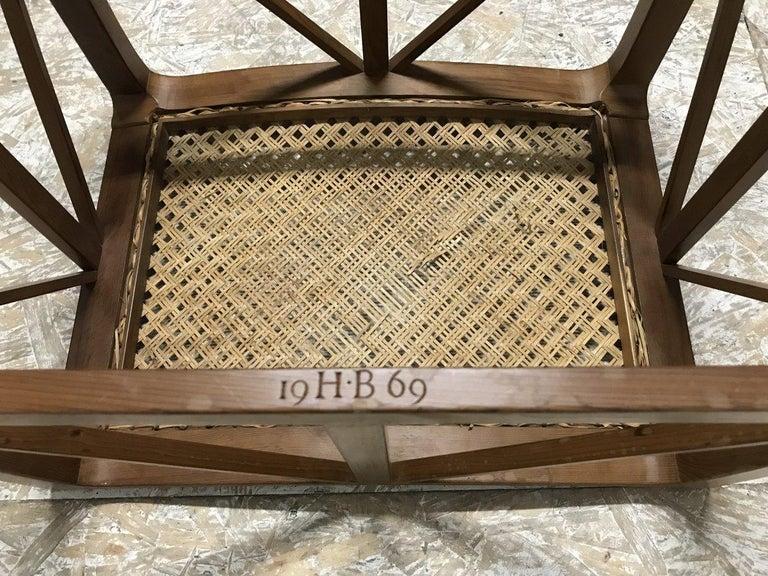Hugh Birkett, Master Craftsman, an Arts & Crafts Handmade Yew Wood Thebes Stool For Sale 5