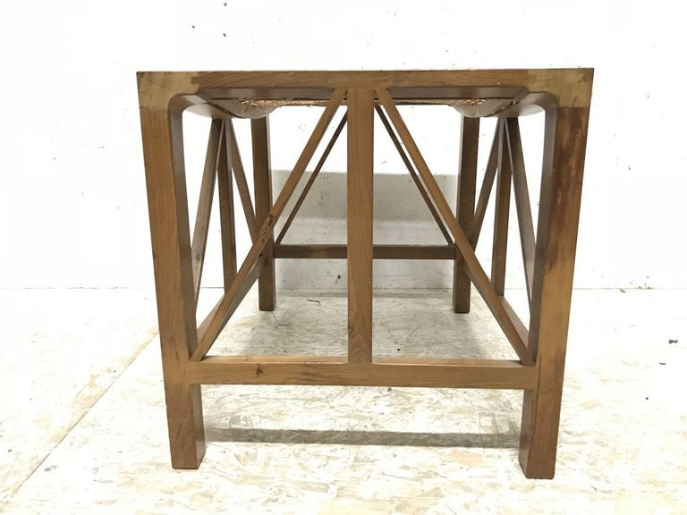 Arts and Crafts Hugh Birkett, Master Craftsman, an Arts & Crafts Handmade Yew Wood Thebes Stool For Sale
