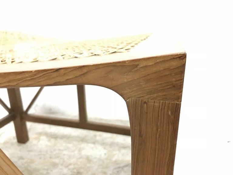 Mid-20th Century Hugh Birkett, Master Craftsman, an Arts & Crafts Handmade Yew Wood Thebes Stool For Sale