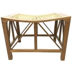 Hugh Birkett, Master Craftsman, an Arts & Crafts Handmade Yew Wood Thebes Stool