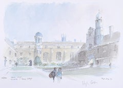 Gonville and Caius College Cambridge Hugh Casson limited edition print