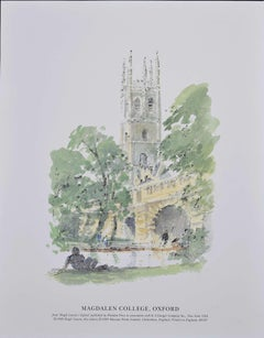 Hugh Casson Magdalen College Oxford University Print