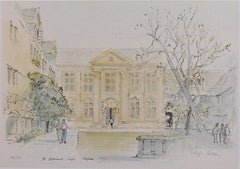 Hugh Casson St Edmund Hall, Oxford signed limited edition print