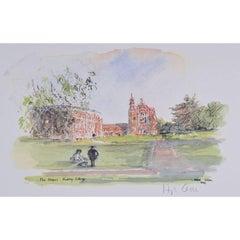 Hugh Casson The Chapel, Radley College signed print c. 1980