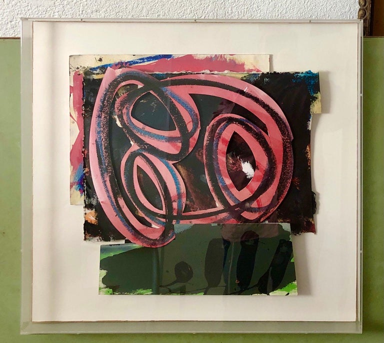 1980s Abstract Expressionist Pop Art Painting Collage, Assemblage Hugh O'Donnell For Sale 12