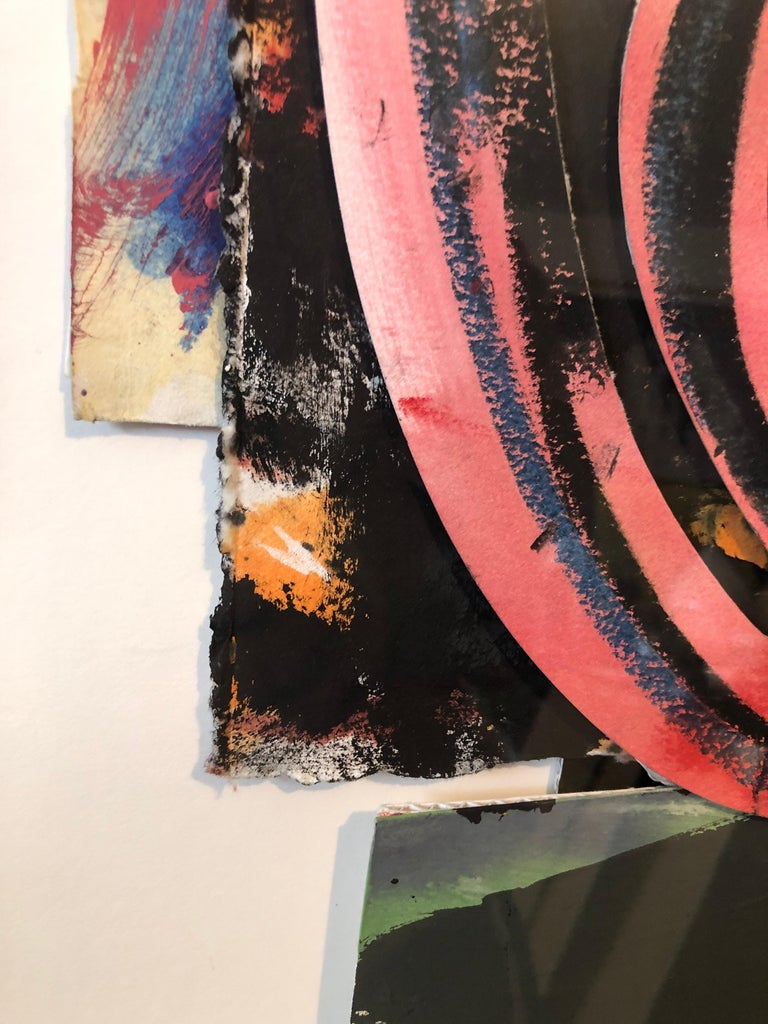 1980s Abstract Expressionist Pop Art Painting Collage, Assemblage Hugh O'Donnell For Sale 4