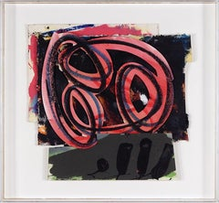 1980s Abstract Expressionist Pop Art Painting Collage, Assemblage Hugh O'Donnell