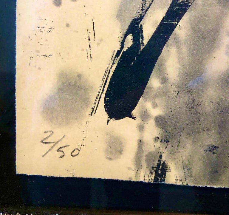 Lacuna, Abstract Expressionist Color Etching from Graphicstudio, Hugh O'Donnell For Sale 1