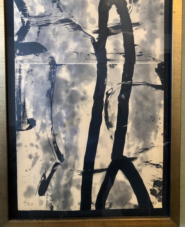 Lacuna, Abstract Expressionist Color Etching from Graphicstudio, Hugh O'Donnell For Sale 3