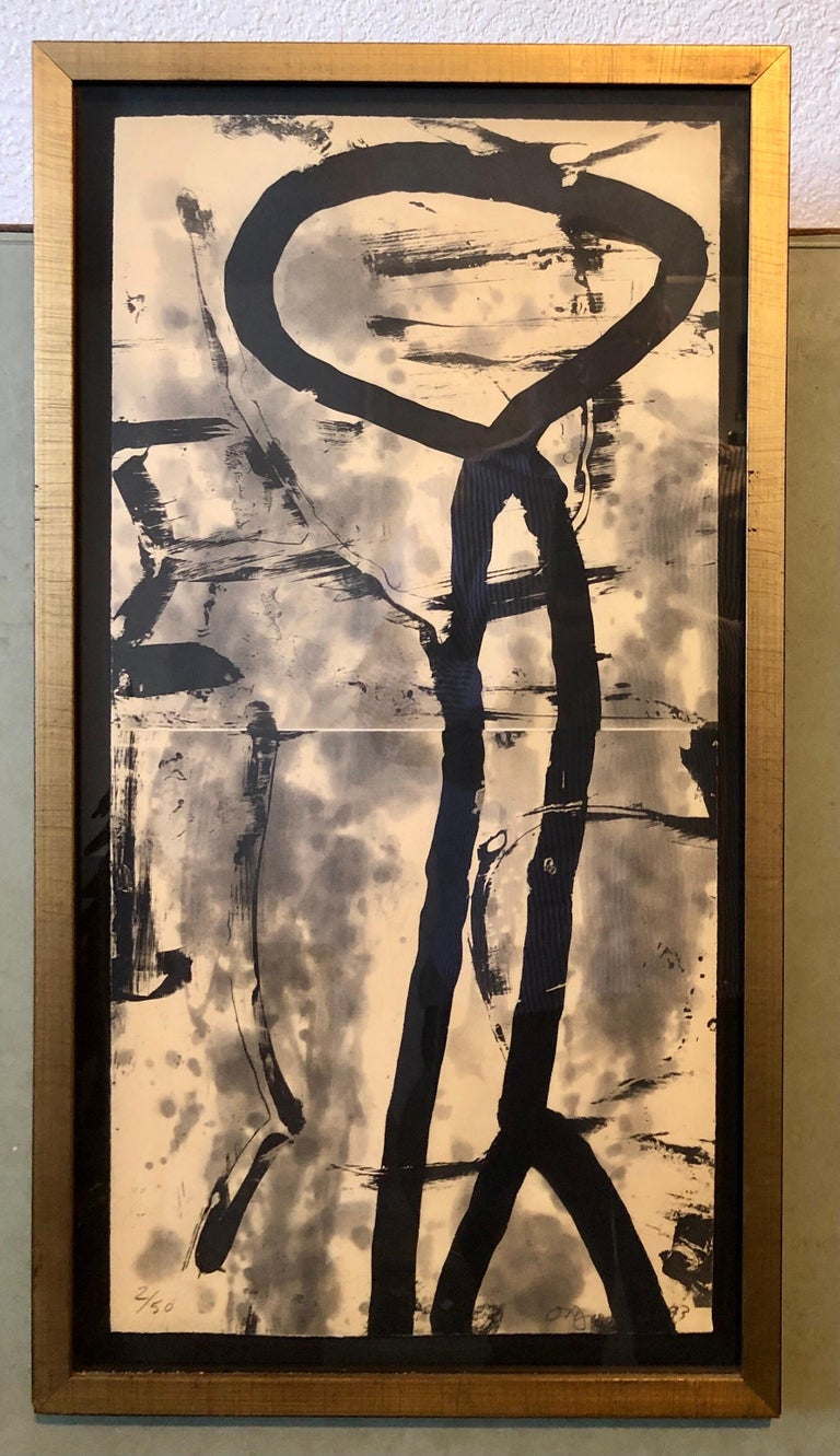 Lacuna, Abstract Expressionist Color Etching from Graphicstudio, Hugh O'Donnell For Sale 4