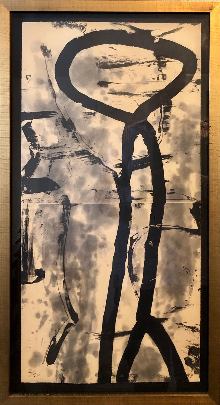 Lacuna, Abstract Expressionist Color Etching from Graphicstudio, Hugh O'Donnell - Print by Hugh O'Donnell