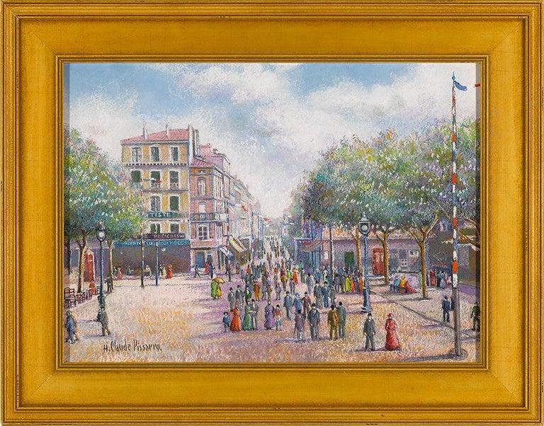 1er Mai a Dogein-De-Provence - Painting by Hughes Claude Pissarro
