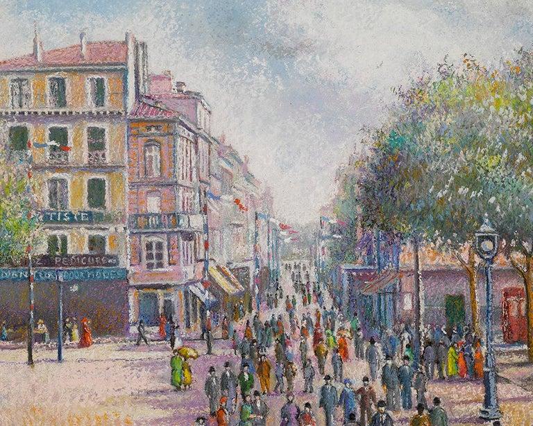 1er Mai a Dogein-De-Provence - Post-Impressionist Painting by Hughes Claude Pissarro