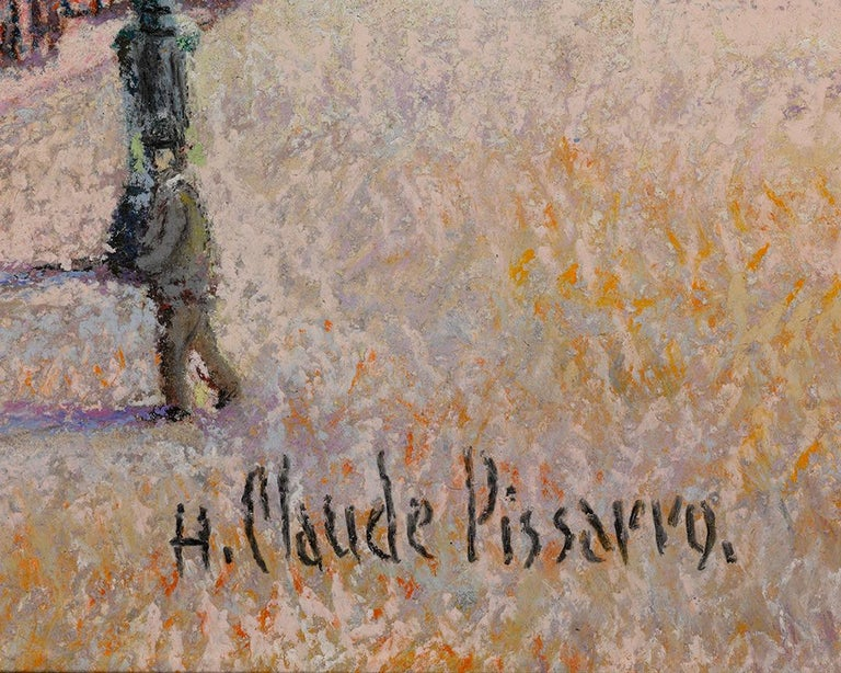 1er Mai a Dogein-De-Provence - Gray Landscape Painting by Hughes Claude Pissarro