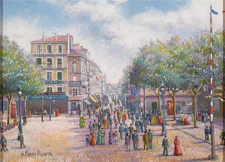 Hughes Claude Pissarro Landscape Painting - 1er Mai a Dogein-De-Provence
