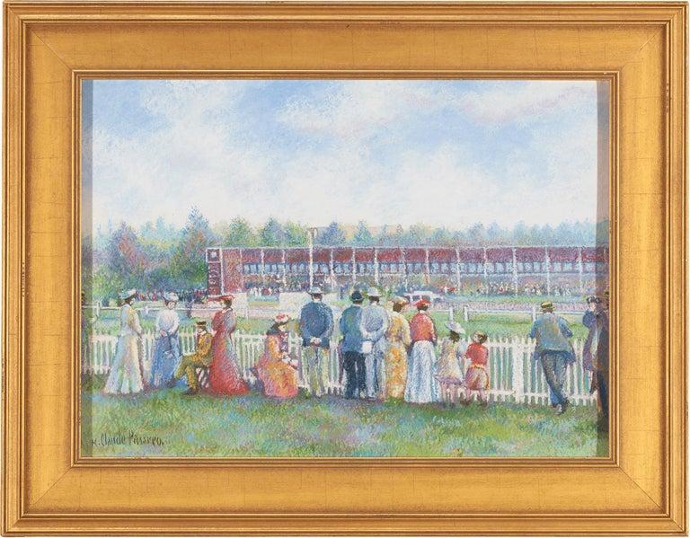 Dimanche au Champ de Course (Deauville) (Sunday at the Racetrack) - Painting by Hughes Claude Pissarro