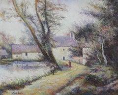 L'Orme du Moulin by H. Claude Pissarro - Post-Impressionist oil painting