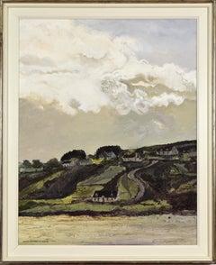 Route de Meenaclady, La Plage by HUGUES PISSARRO DIT POMIÉ - Landscape painting