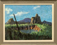 """Untitled Landscape"" Early work, African-American, Colors, Mountains"