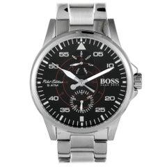 Hugo Boss Aviator 1513518, Millimeters Black Dial, Certified and Warranty