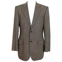 Hugo Boss Beige Wool Pique Classic Slim Fit Jacket