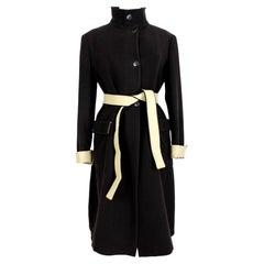 Hugo Boss Black Beige Cashmere Long Classic Coat