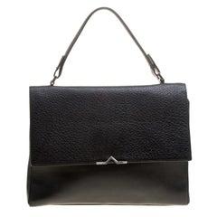 Hugo Boss Black Leather Top Handle Briefcase
