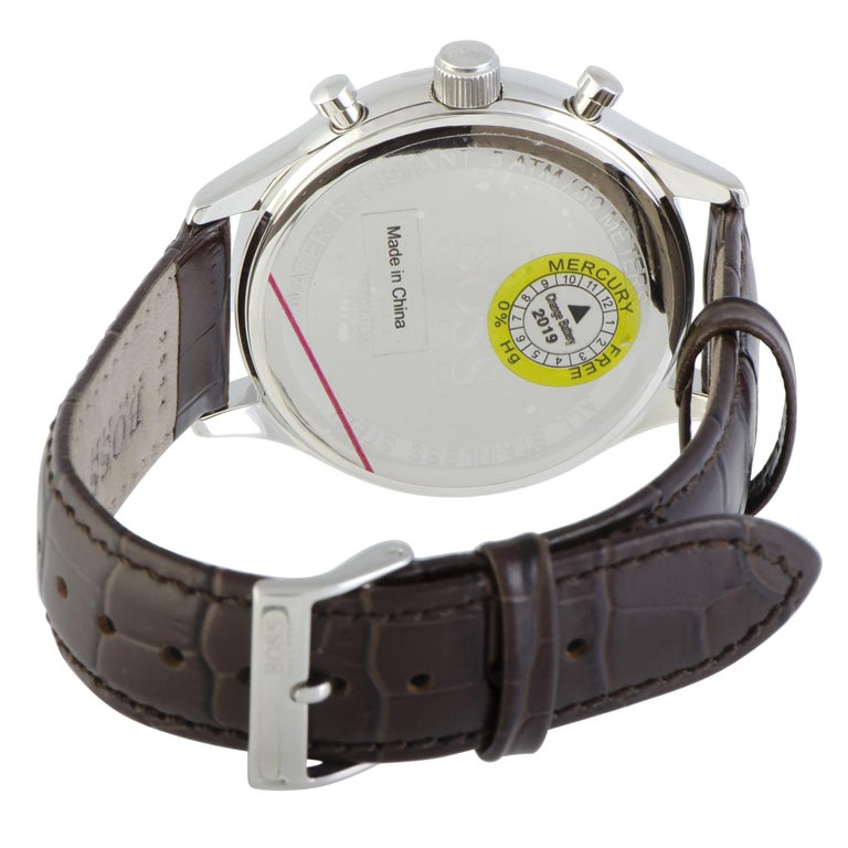 Hugo Boss Companion Chronograph Men's Watch Beige 1513544 In New Condition In Southampton, PA