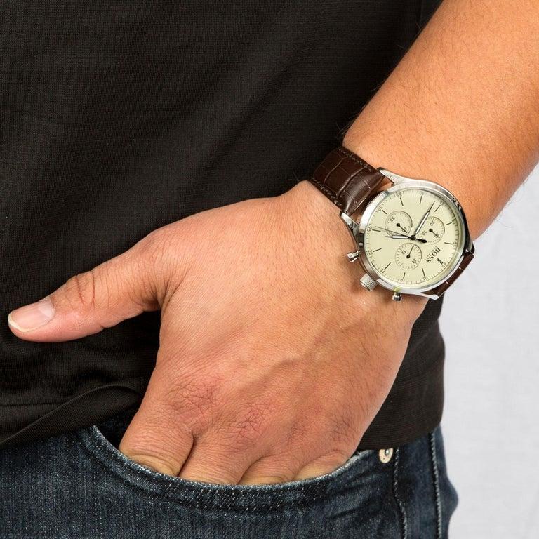 Hugo Boss Companion Chronograph Men's Watch Beige 1513544 1