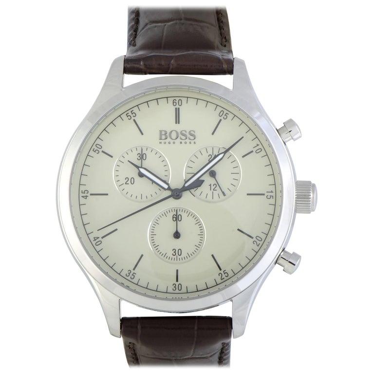 Hugo Boss Companion Chronograph Men's Watch Beige 1513544