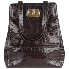 Hugo Boss Embossed Croc Look Tote Bag